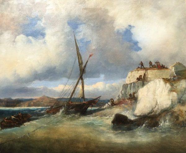 """François Barry 1813-1905) """"Le naufrage"""""""